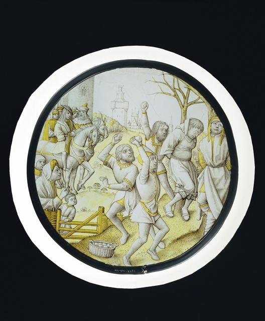 Ruit met het stenigen van de grijsaards uit de geschiedenis van Susanna