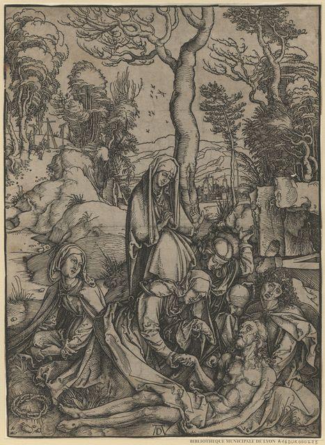 Le corps de Jésus Christ pleuré par la Vierge et les saintes femmes