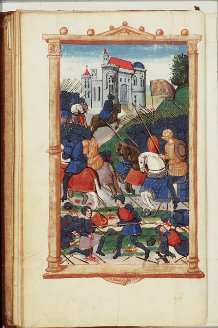 Publius Cornelius Scipio Africanus Major and his brother Lucius Cornelius Asiaticus taking the city of Orongis