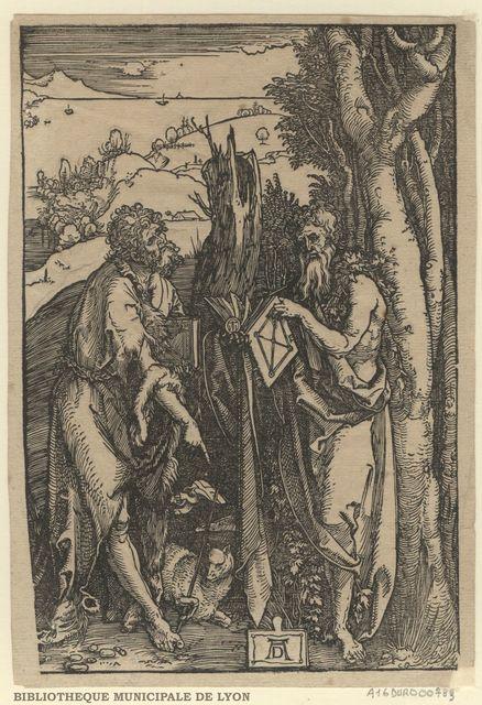 Saint Jean l'Evangéliste et Saint Jérôme