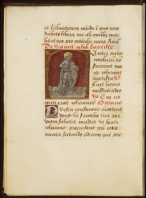 St. John the Baptist holding a book with the Lamb of God (Agnus Dei)