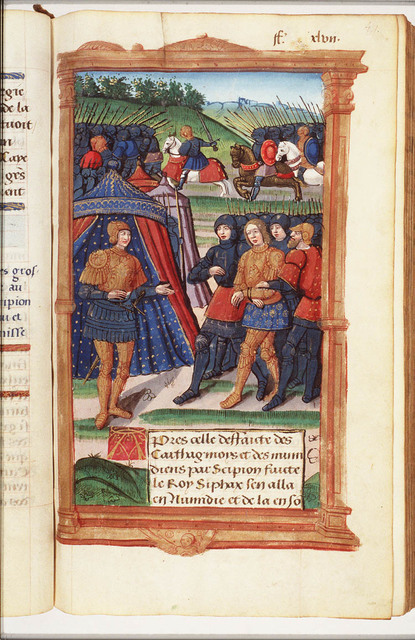 Syphax arrested and led before Scipio
