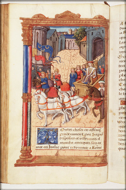 Triumphant entry of Scipio after the victory over Carthage