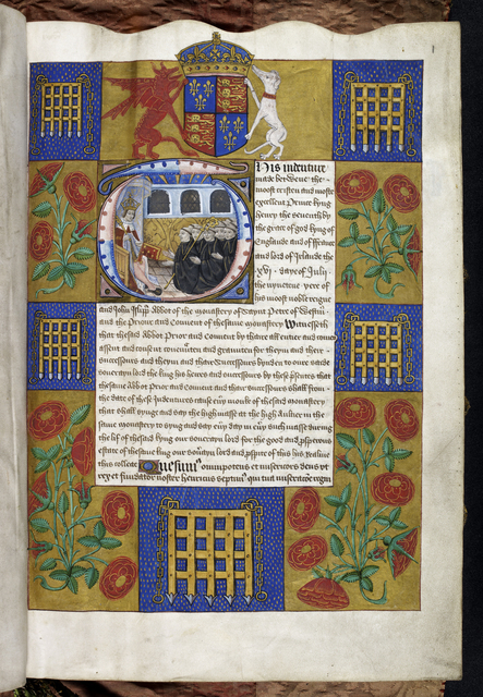 Henry VII from BL Harley 1498, f. 1