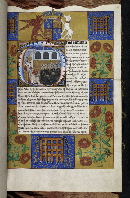 Henry VII from BL Harley 1498, f. 59