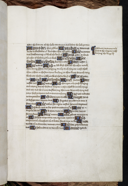 Text page from BL Harley 1498, f. 2