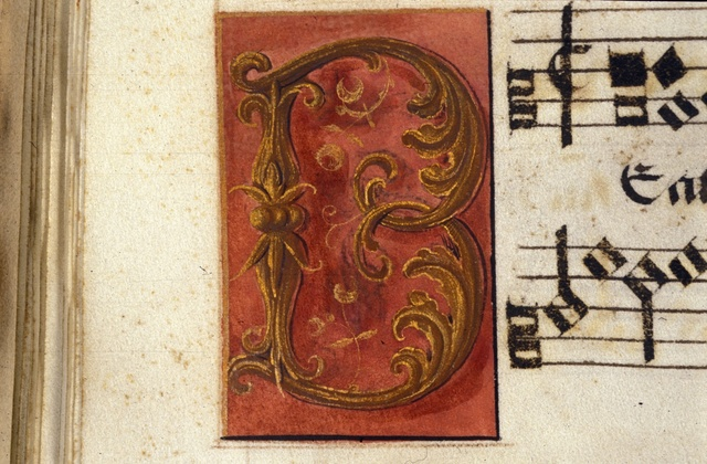 Illuminated initial from BL Royal 11 E XI, f. 15v
