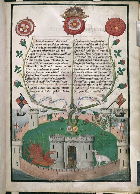 Tudor rose from BL Royal 11 E XI, f. 2