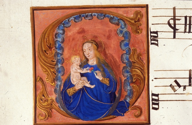 Virgin and Child from BL Royal 11 E XI, f. 10v