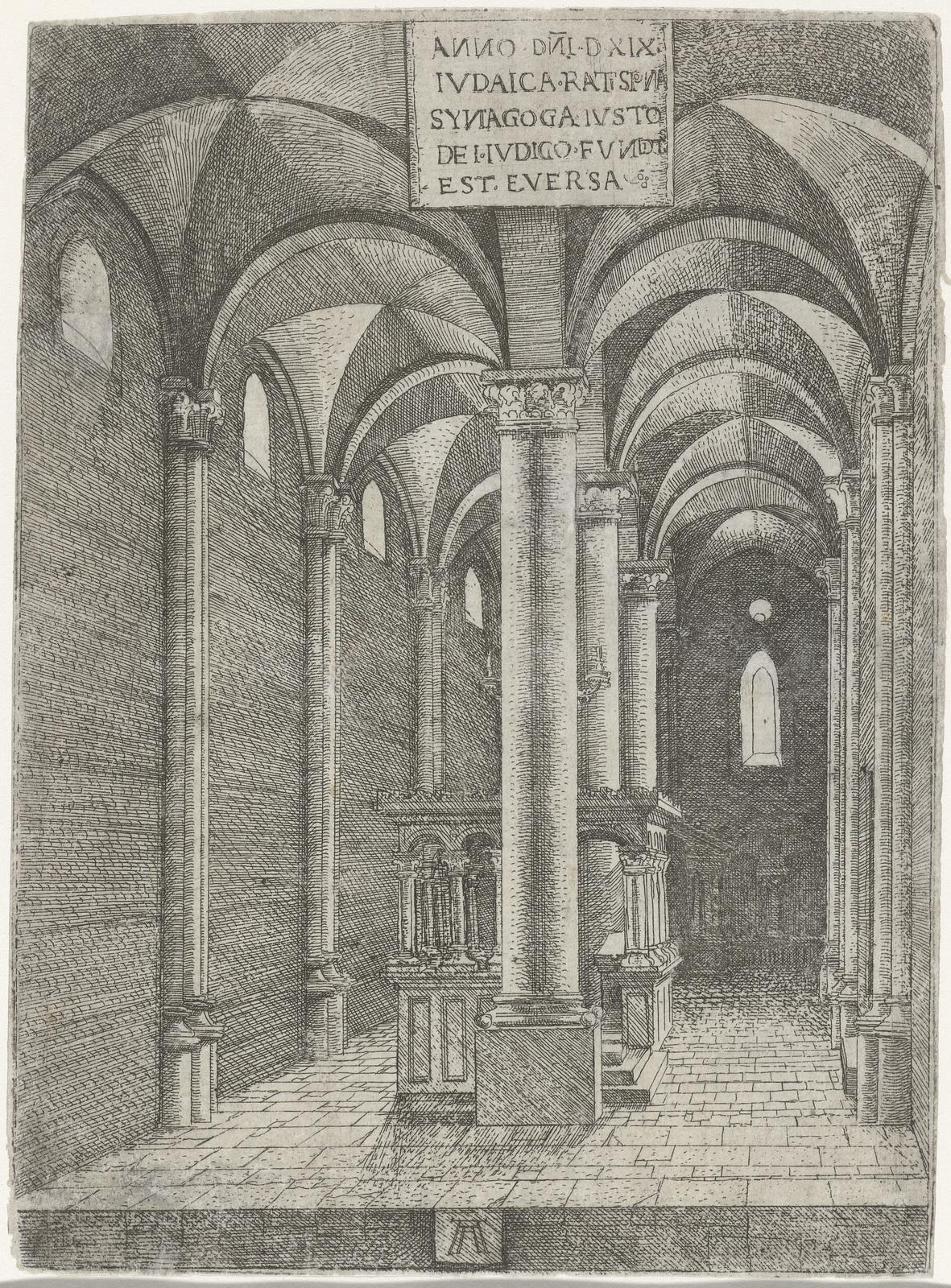 Interieur van de synagoge te Regensburg