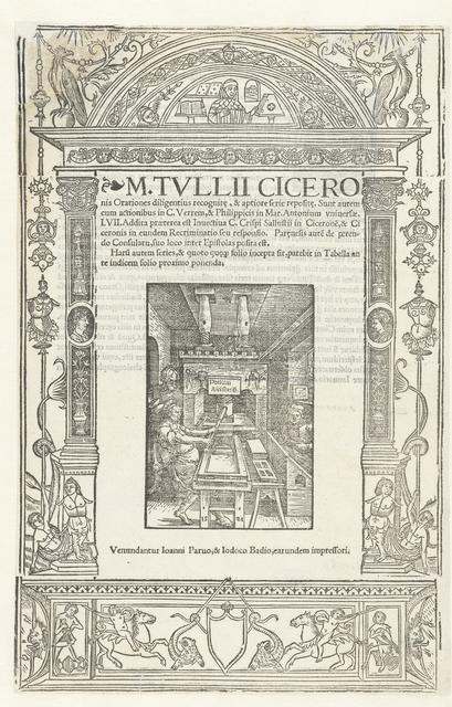 Titelblad van Cicero's Orationes