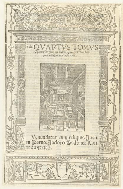 Titelblad van het vierde deel van Opera Origenis Adamantii