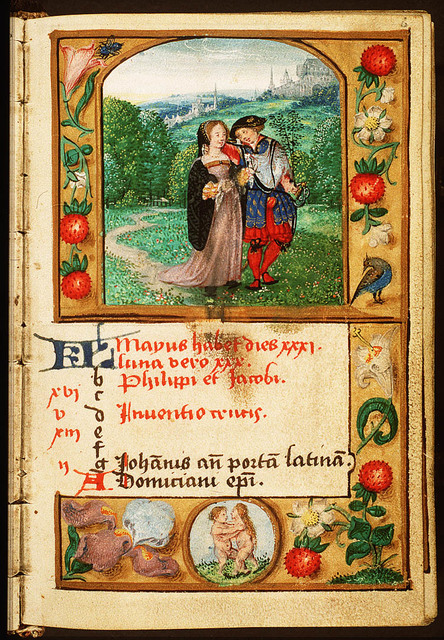 May: a pair of lovers, walking