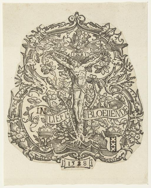 """Het wapen van de Amsterdamse rederijkerskamer """"De Egelantier"""""""