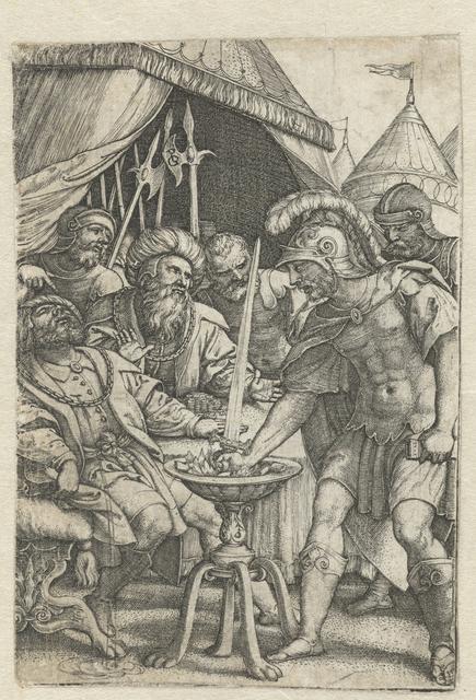Mucius Scaevola steekt rechterhand in het vuur