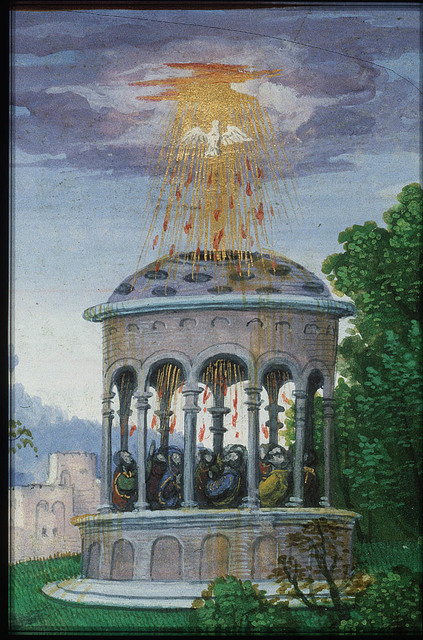 Jean Lallemant le Jeune looking at Pentecost: the Holy Spirit descends upon Mary and the apostles