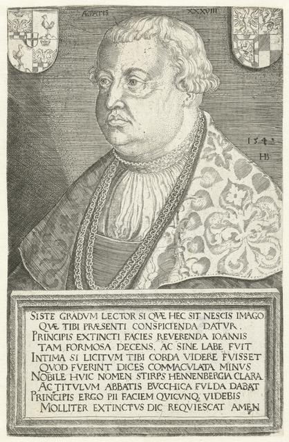 Portret van abt Johann von Henneberg