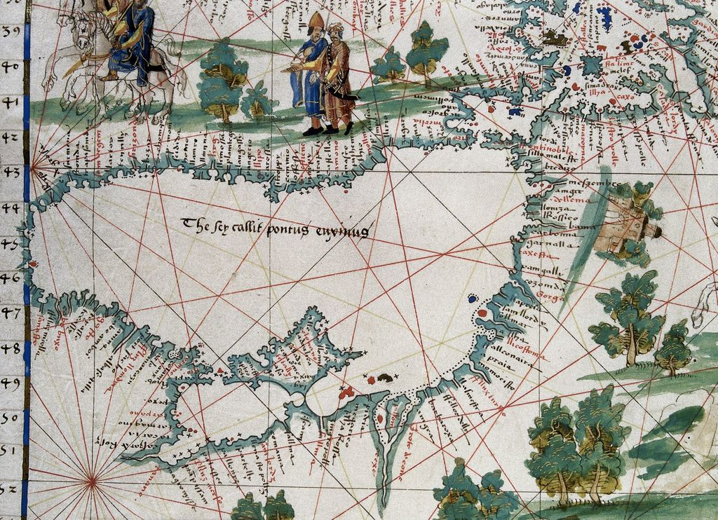 Black Sea from BL Royal 20 E IX, f. 19v