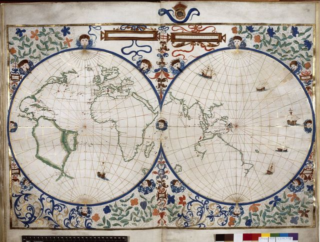 Map of the world from BL Royal 20 E IX, ff. 29v-30