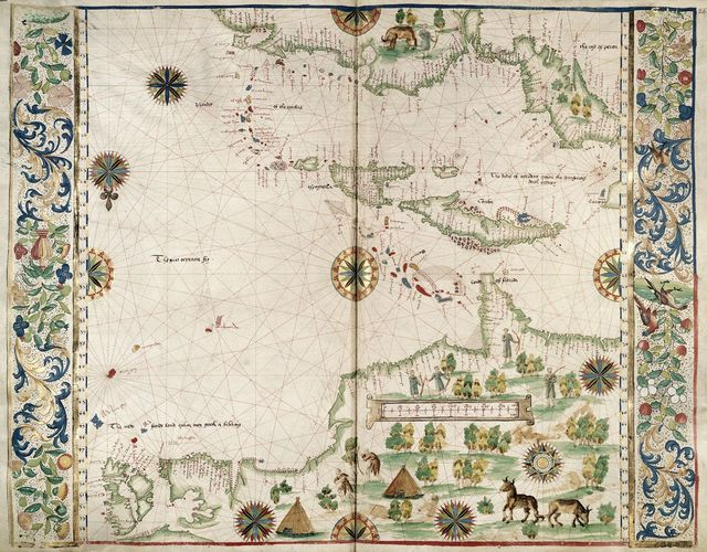 West Indies from BL Royal 20 E IX, ff. 23v-24