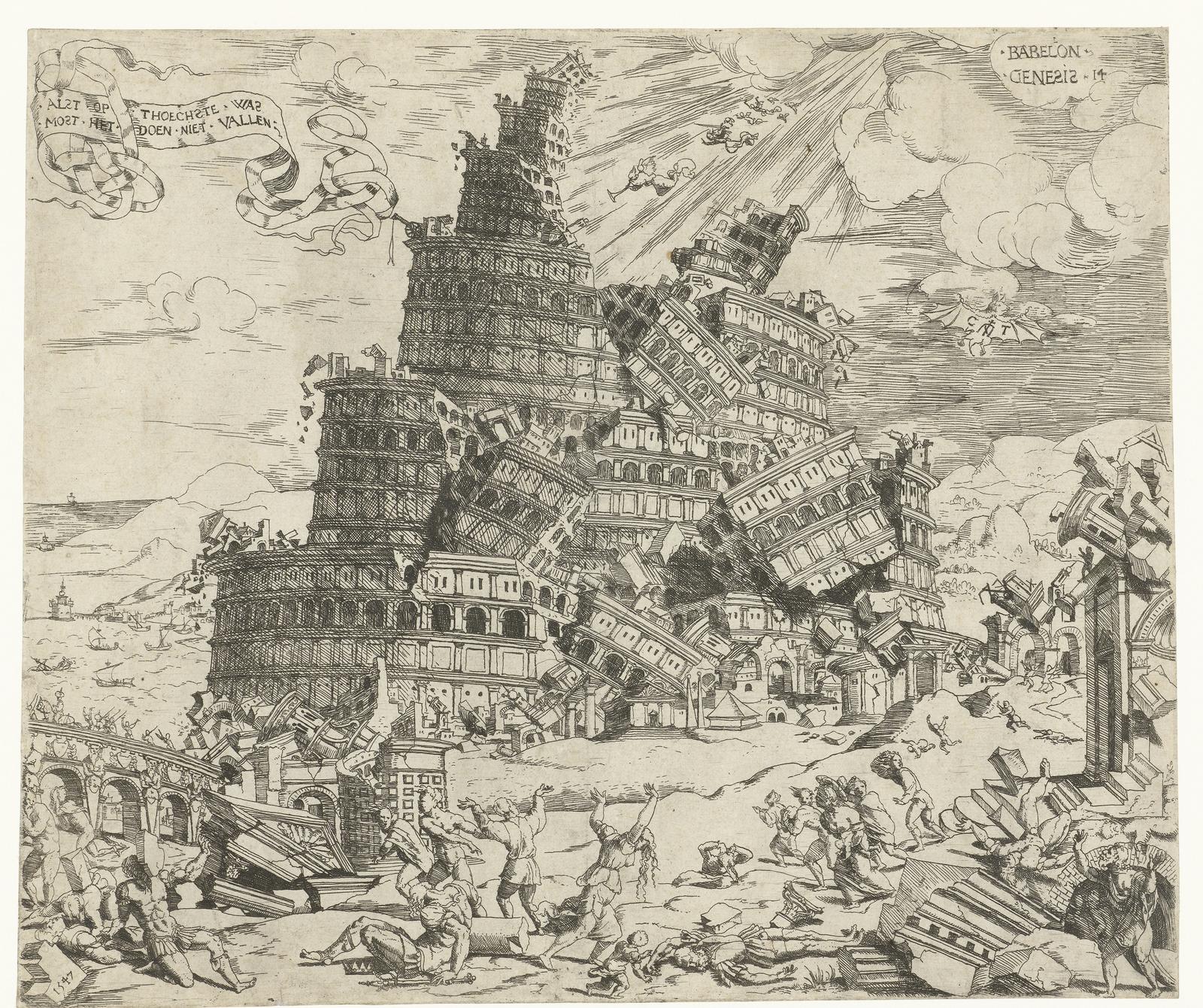Val van de toren van Babel