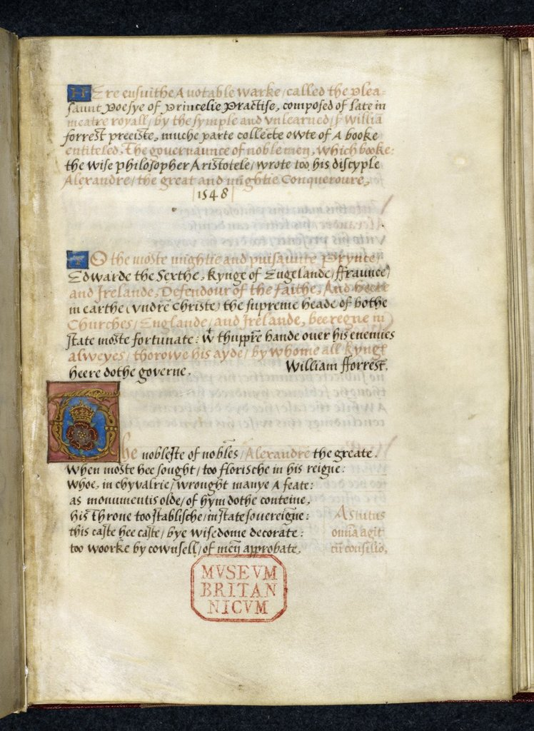 Illuminated initial from BL Royal 17 D III, f. 8