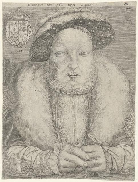 Portret van koning Hendrik VIII van Engeland en Ierland
