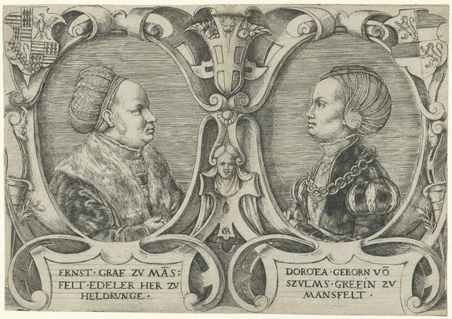 Dubbelportret van Graaf Ernst II Mansfeld zu Vorderort en van zijn vrouw Dorothea von Solms-Lich