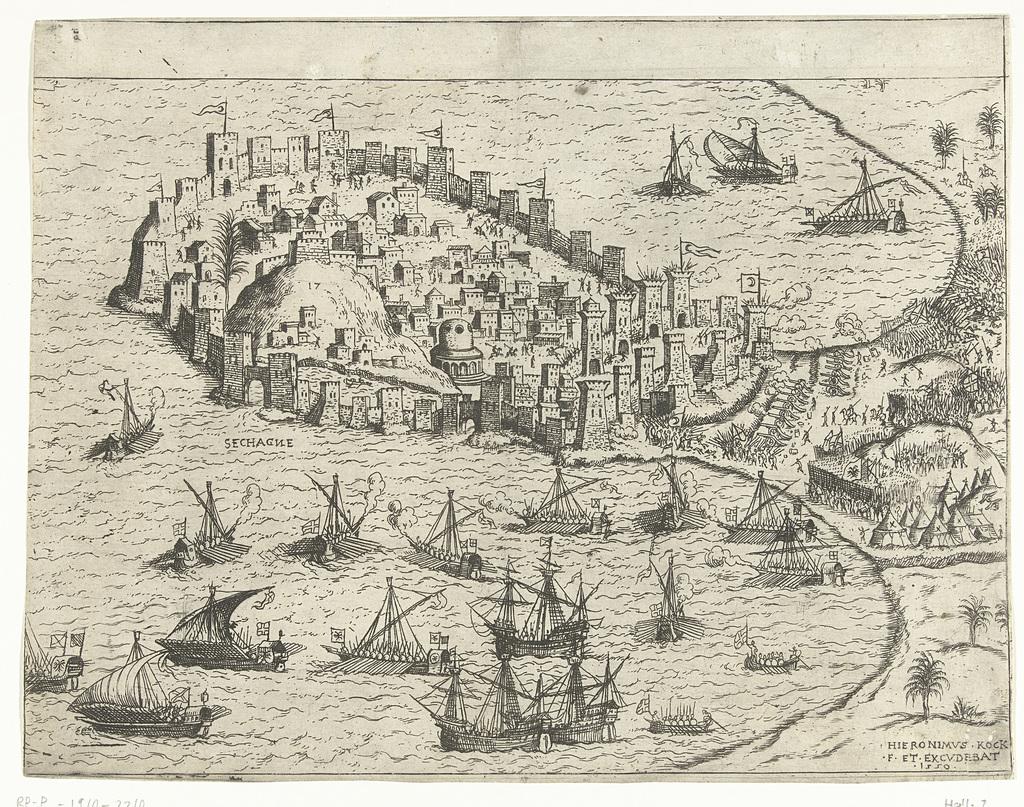 Zeeslag bij een Ottomaans schiereiland