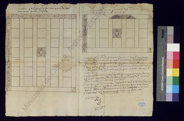 [Disposición de los guadamecíes en la casa de Jean de Hénin-Liétard, conde de Boussu, caballerizo mayor del rey] [Material gráfico no proyectable]