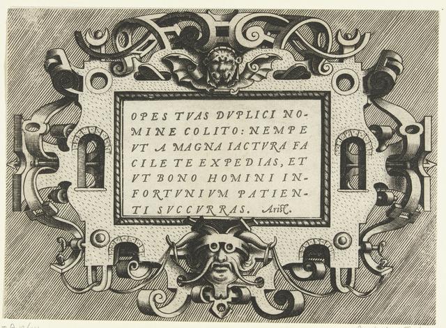 Cartouche met citaat Aristoteles