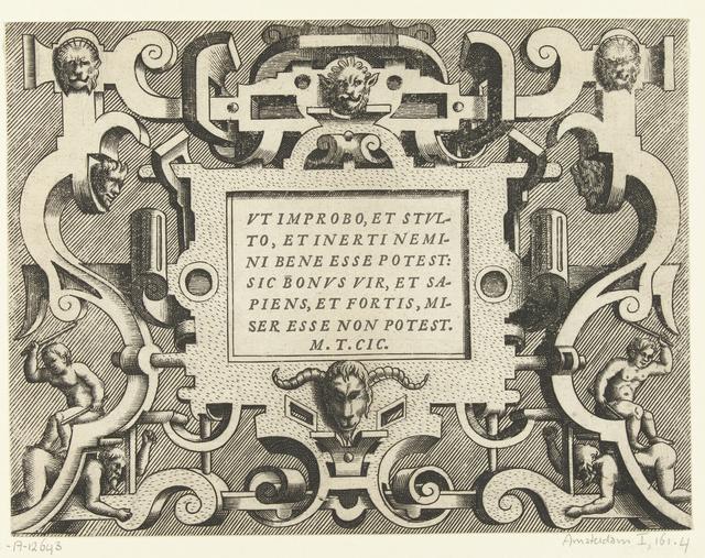 Cartouche met een citaat van Cicero