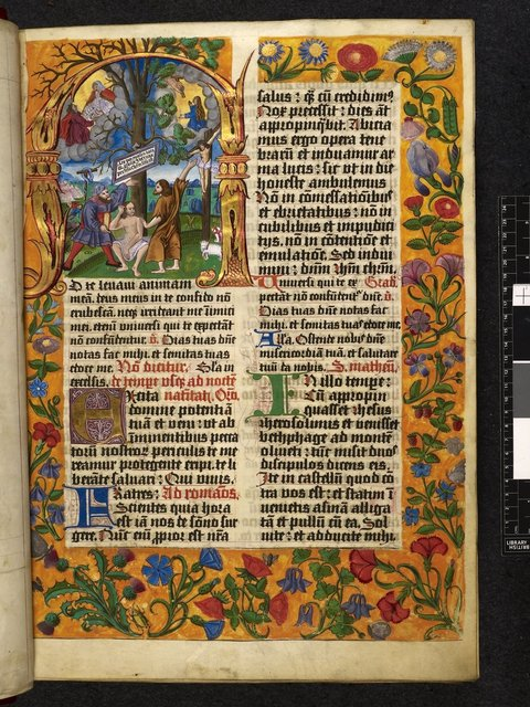 Moses and Christ (Old and New Laws) from BL Harley 2835, f. 8