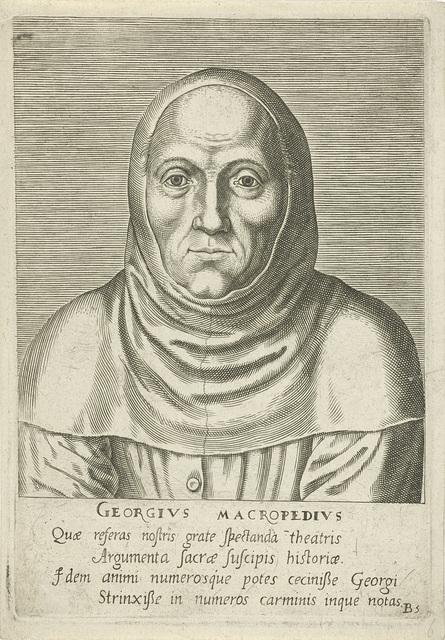 Portret van Georgius Macropedius