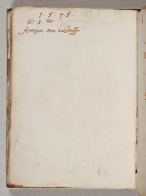 Albuminscriptie / van Anthon von Bulstorff voor Gerard van Hacfort
