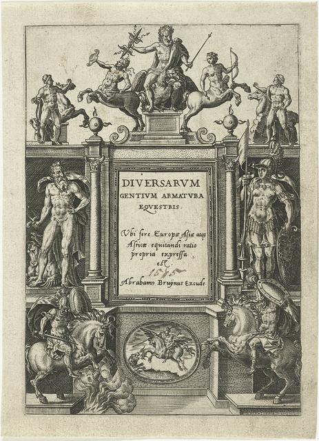 Titelpagina voor Omnium pene Europae, Asiae, Aphricae, Americae gentium habitus