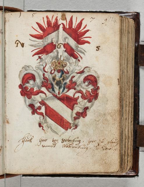 Albuminscriptie / van Hauch herr von Schonburg (1559-1606), herr zu Glauchau und Waldenburg, voor Bernardus Paludanus (1550-1633)