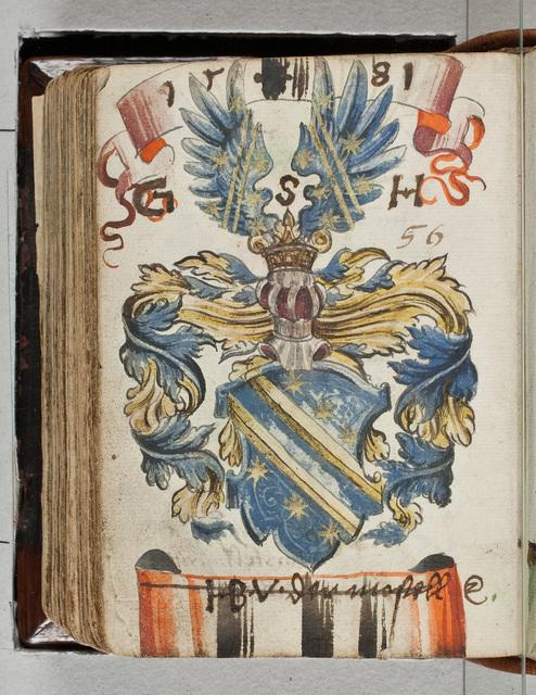 Albuminscriptie / van H.B. von der Mosell, voor Bernardus Paludanus (1550-1633)