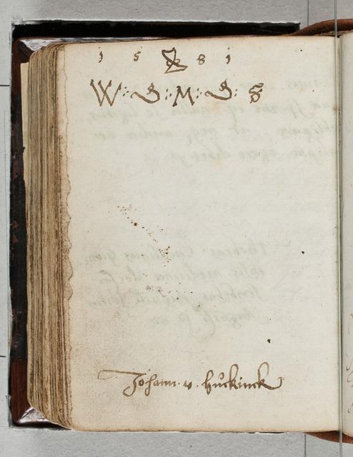 Albuminscriptie / van Johann von Huckinck, voor Bernardus Paludanus (1550-1633)