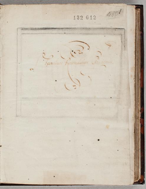 Eigendomsinscriptie / van Aemilius van Rosendael (1557-1620), stedelijk magistraat te Gouda, in zijn album amicorum