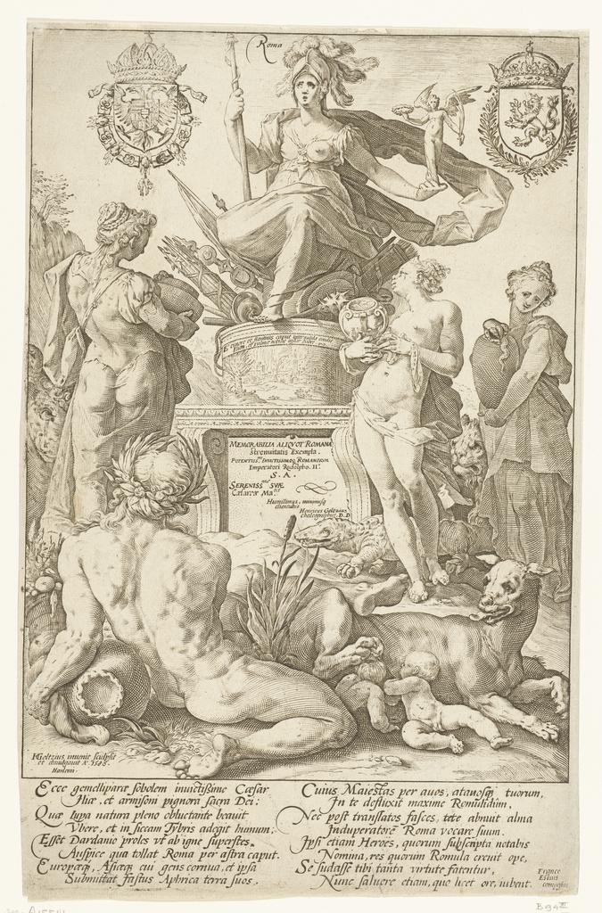 Titelprent voor prentserie De Romeinse helden