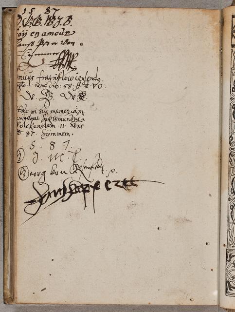 Albuminscriptie / van Georg von Rosenfelt, voor Philippus Anshelm