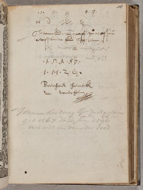 Albuminscriptie / van Johann Ludwig von Nassau-Wiesbaden und Idstein (1567-1596), voor Philippus Anshelm