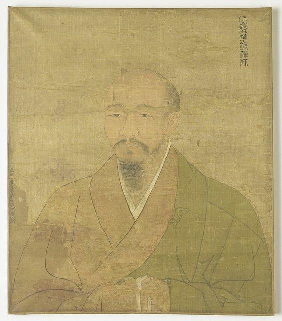 Portret van de zen priester-schilder Wu-Chun Fan.