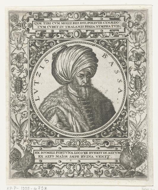 Portret van de sultan Lutzis Basha