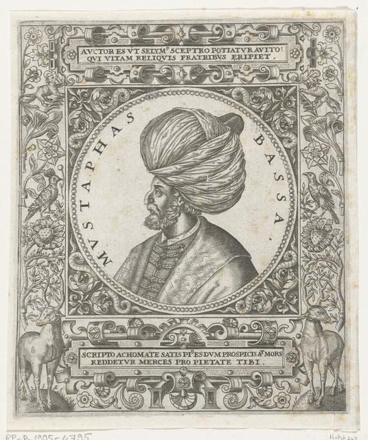 Portret van de sultan Mustafa Basha