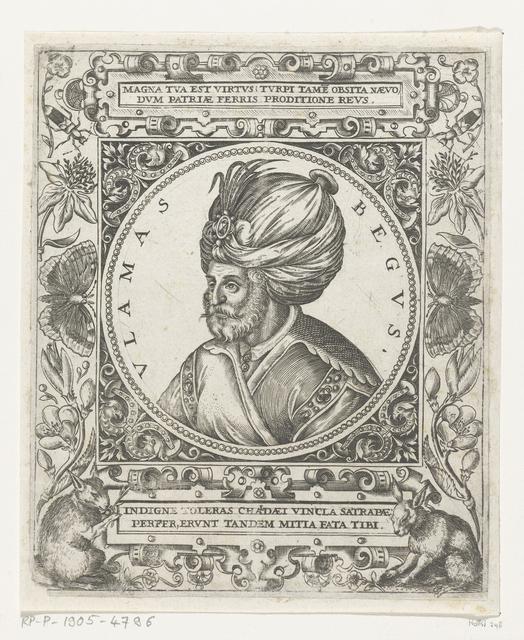 Portret van de sultan Ulamas Begus