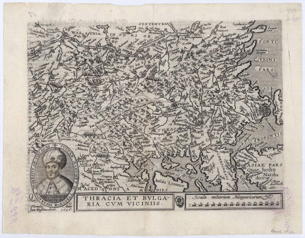 Thracia et Bulgaria cum viciniis : Карта