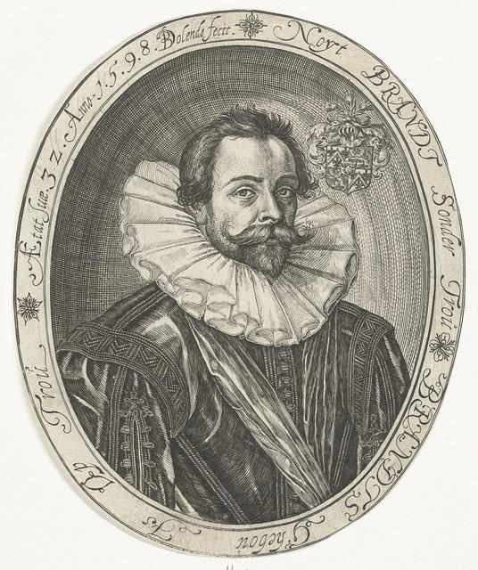 Portret van Cornelis van den Brande op 32-jarige leeftijd