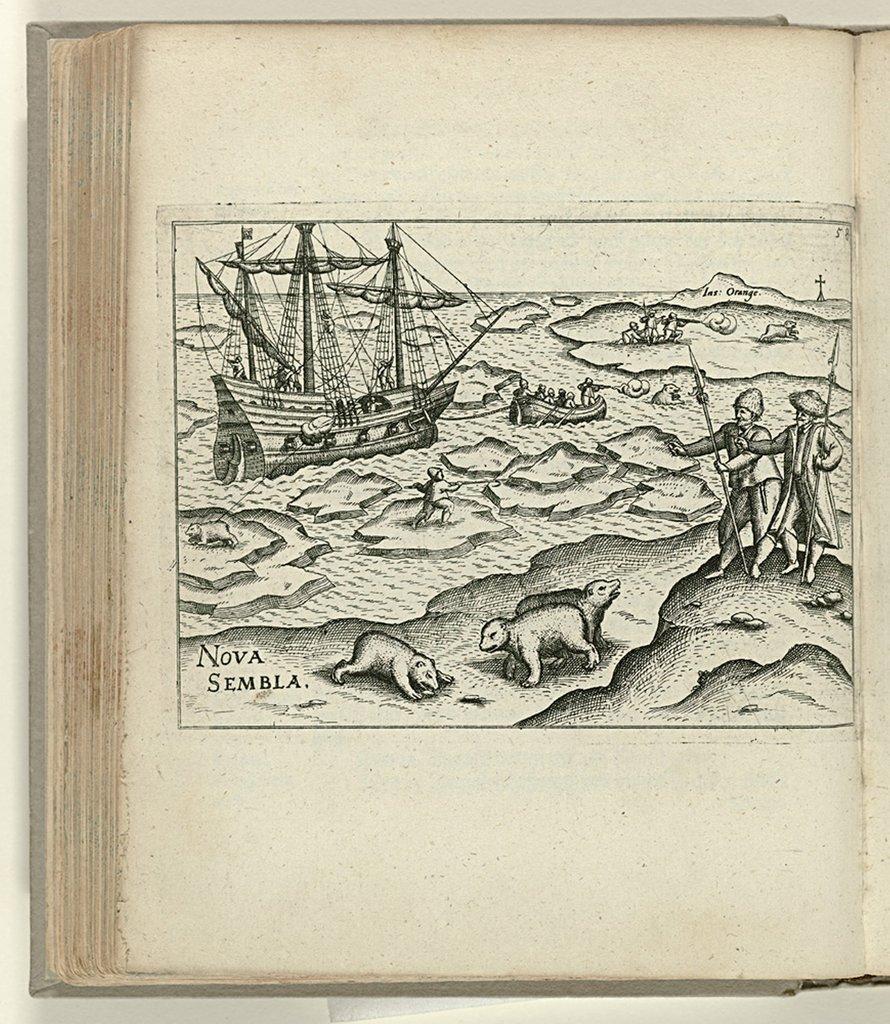 Schip van Barentsz bji de Oranje-eilanden, 1596